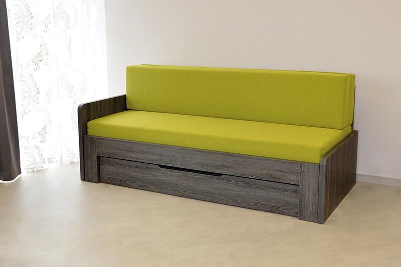 Ahorn Rozkládací postel Duovita s lamelovým roštem bez zásuvky a matrací, s područkami