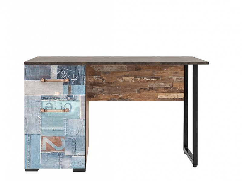 Psací stůl Drago BIU1D1S - Maracaibo/Metalwork/Jeans