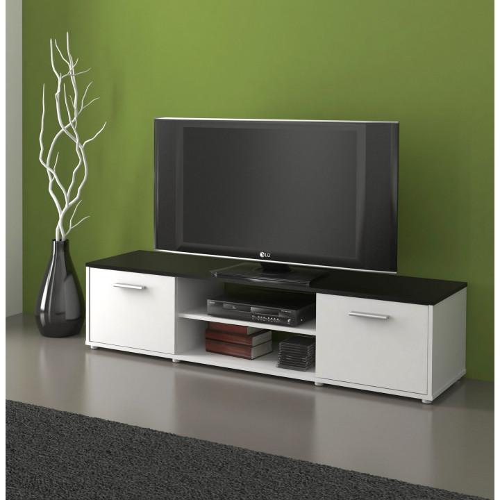 Tempo Kondela TV stolek ZUNO 01 - černá/bílá + kupón KONDELA10 na okamžitou slevu 3% (kupón uplatníte v košíku)