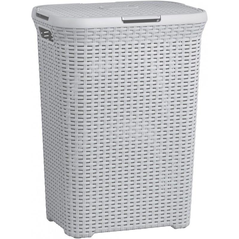 Curver Koš na prádlo STYLE RATTAN 60L - šedý