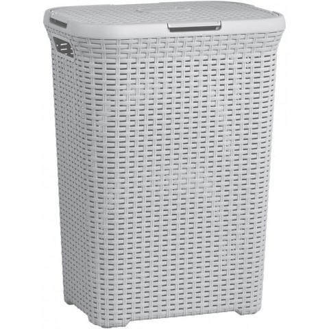 Koš na prádlo STYLE RATTAN 60L - šedý