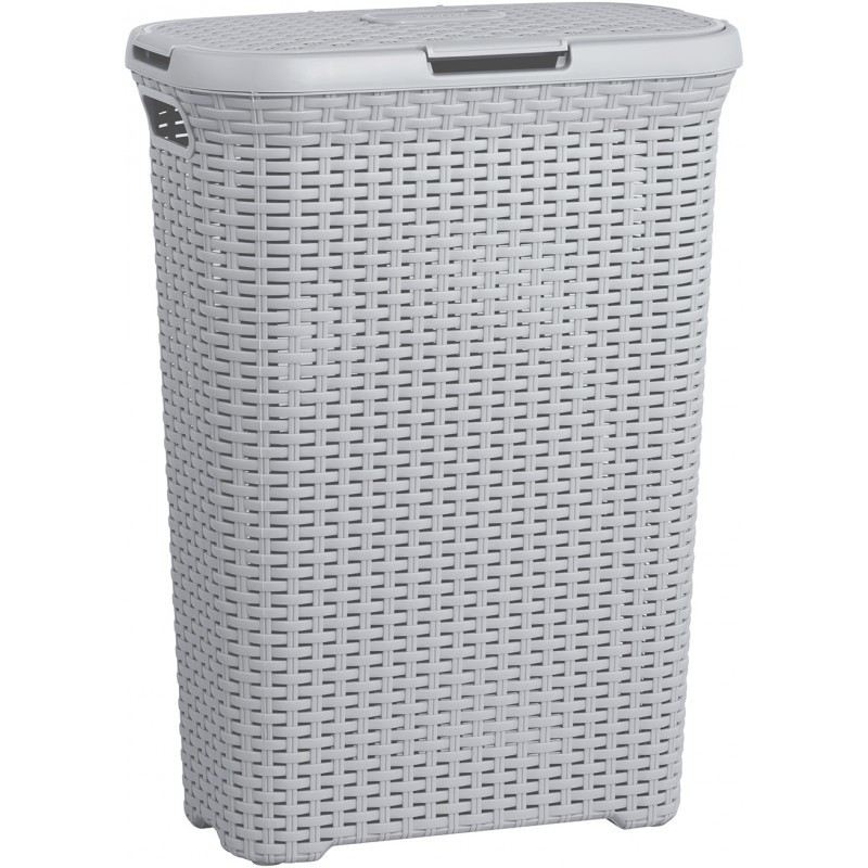 Curver Koš na prádlo STYLE RATTAN 40L - šedý