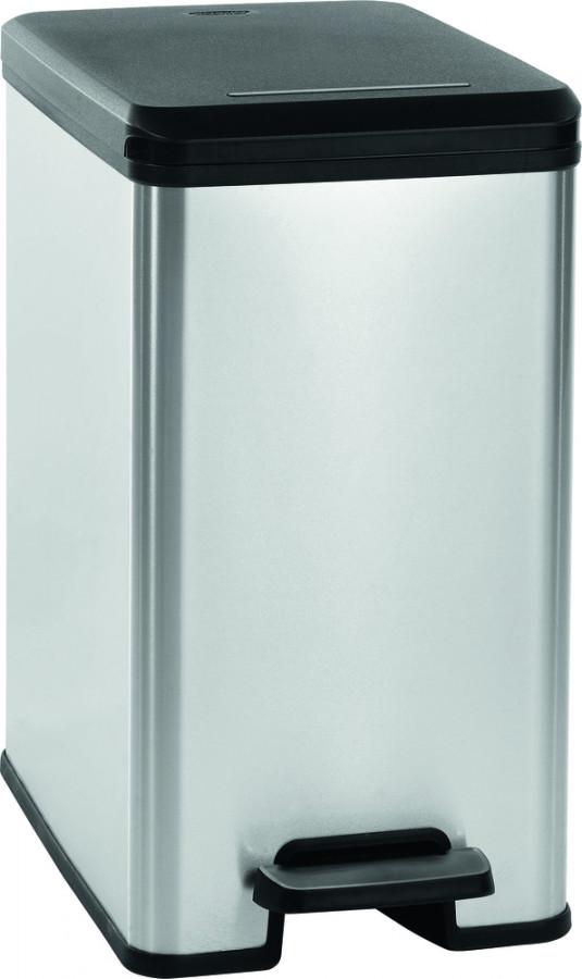 Curver Odpadkový koš SLIM BIN 25L - stříbrný