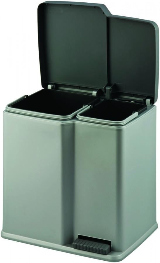 Curver Odpadkový koš na tříděný odpad DUO - šedý