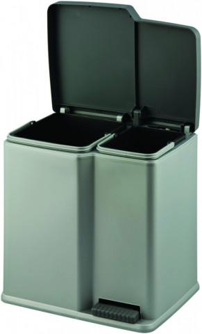 Odpadkový koš na tříděný odpad DUO - šedý