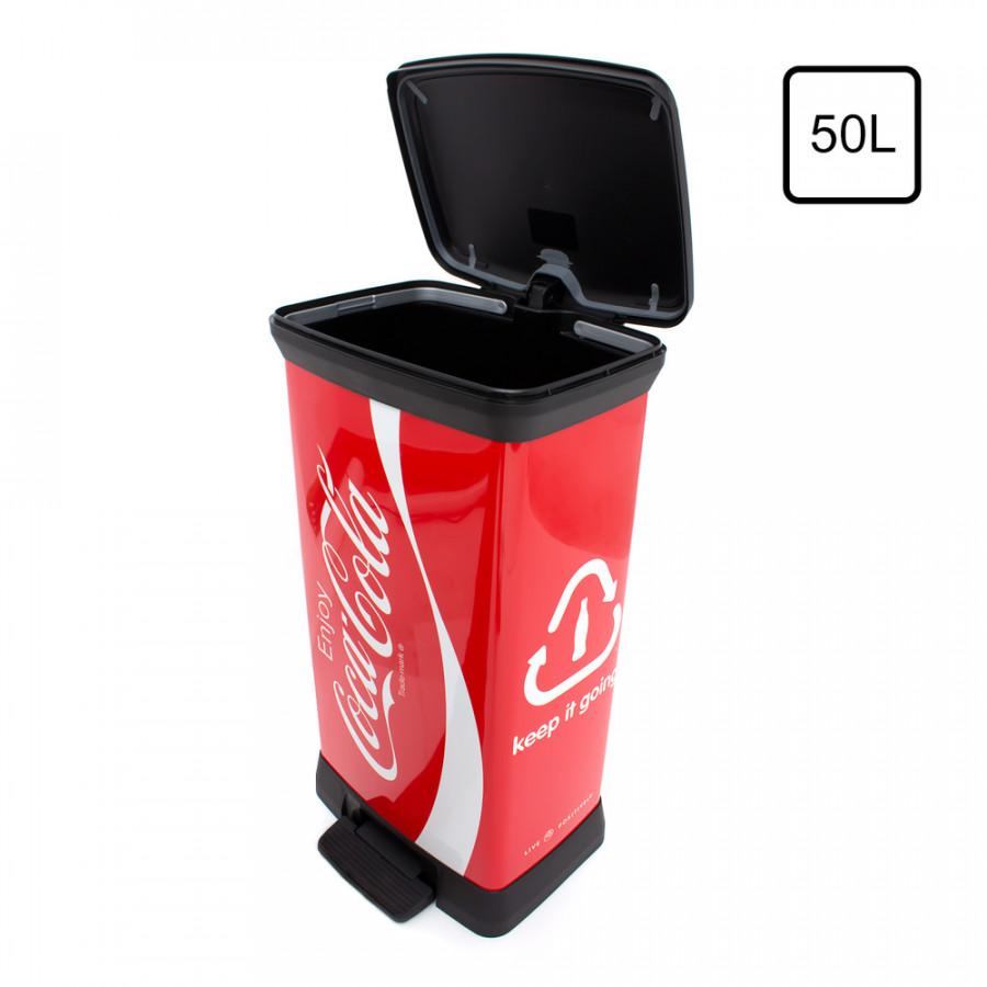Curver Odpadkový koš DECOBIN 50L - COCA COLA