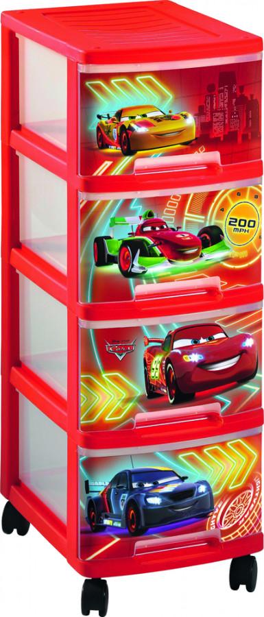 Curver REGÁLEK 4 zásuvky - CARS
