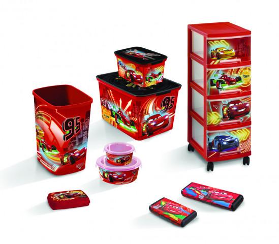 REGÁLEK 4 zásuvky - CARS