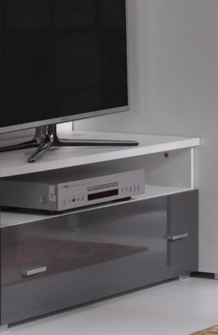 TV stolek Wenecja R6 - bílá/grafit lesk