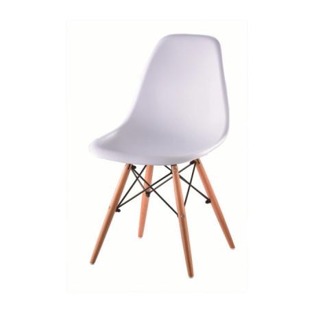 Jídelní židle PC-015 CINKLA - bílá + buk