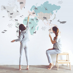 Dekorace na zeď - Mapa 2