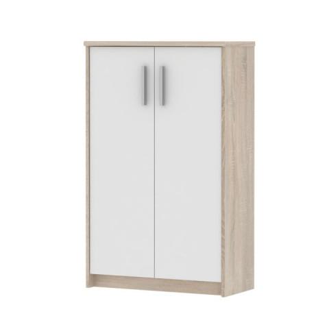 Kancelářská skříňka JOHAN 13 - dub sonoma / bílá