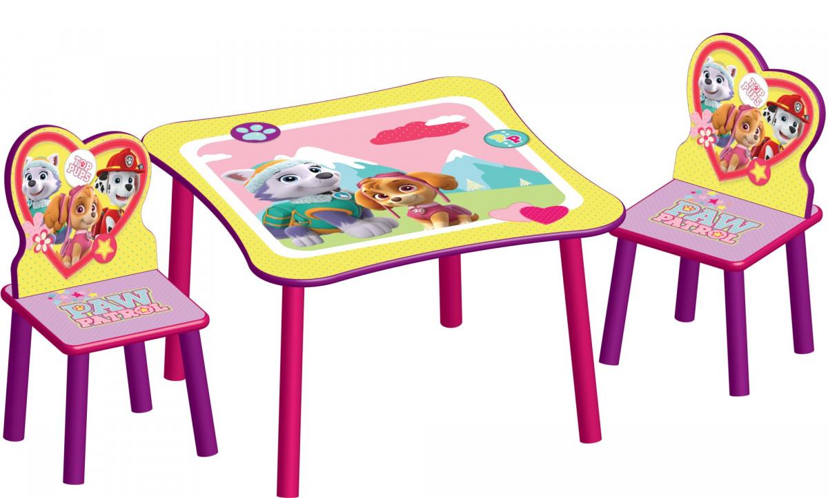Forclaire Dětský stůl s židlemi Tlapková patrola