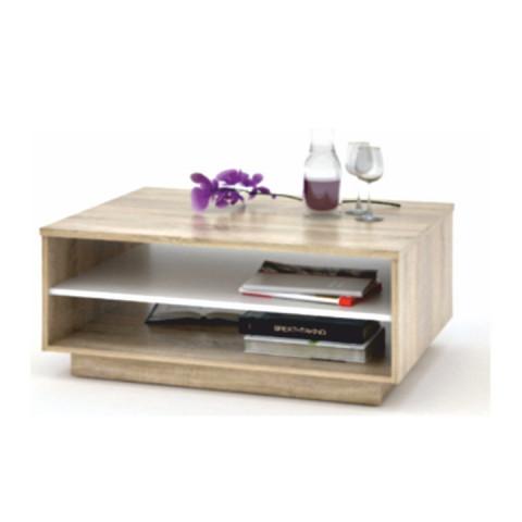 Konferenční stůl VAVRO - dub sonoma / bílá - II. jakost