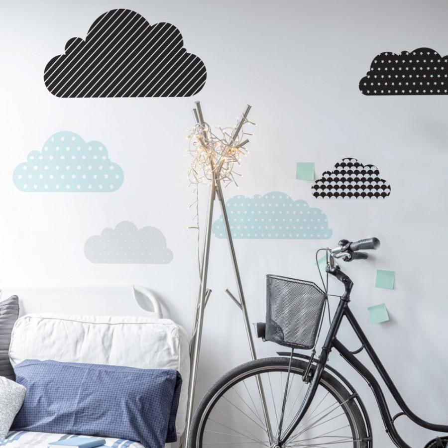 Forclaire Dekorace na zeď - Obláčky
