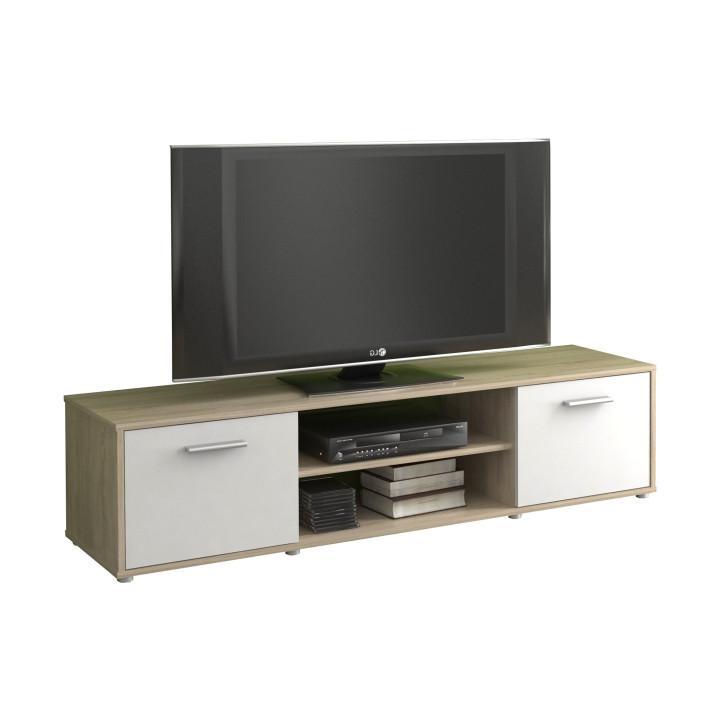 Tempo Kondela TV stolek ZUNO 01 - dub sonoma/bílá + kupón KONDELA10 na okamžitou slevu 10% (kupón uplatníte v košíku)