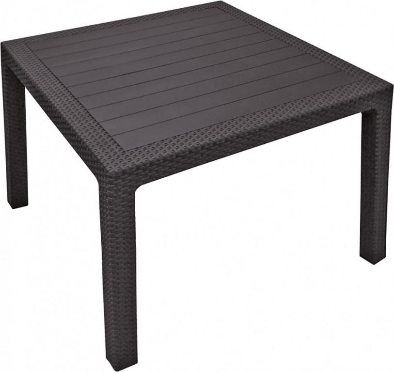 Stůl MELODY QUARTED - hnědý - II. jakost