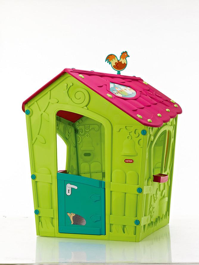 Rojaplast Dětský domeček MAGIC PLAY HOUSE - zelený