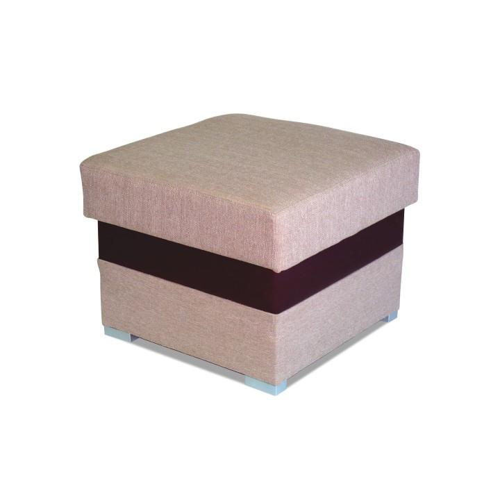 Tempo Kondela Taburetka ROSANA - světle hnědá 22 / čokoládová ekokůže + kupón KONDELA10 na okamžitou slevu 10% (kupón uplatníte v košíku)