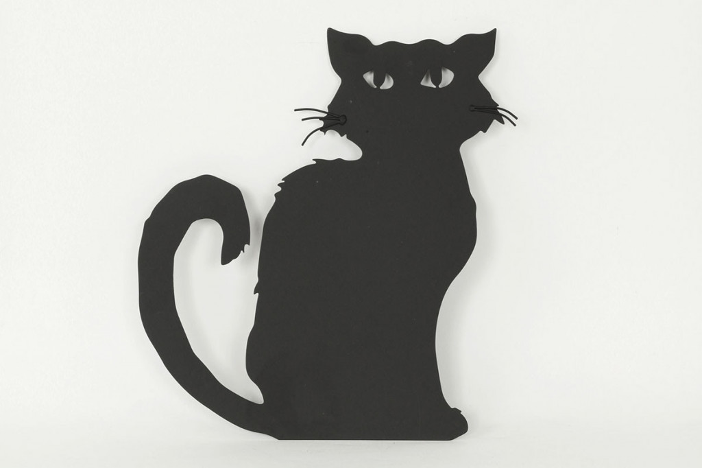 Nástěnná kovová dekorace kočka - HO768263