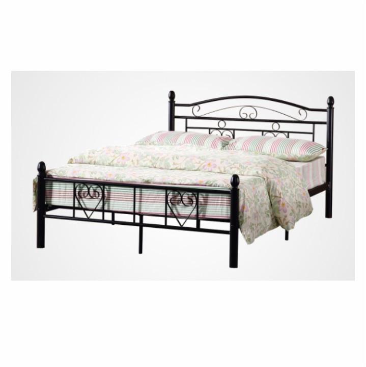 Tempo Kondela Kovová postel BRITA s lamelovým roštem 140x200 - černá