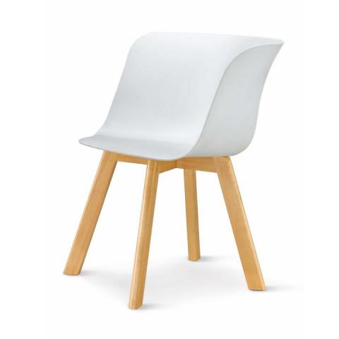 Židle LEVIN - bílá + buk