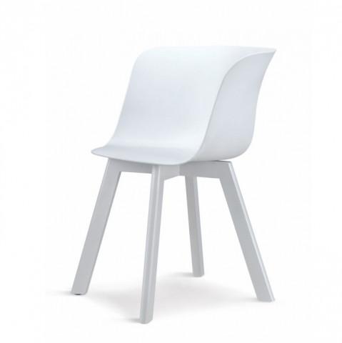 Židle LEVIN - bílá + bílá