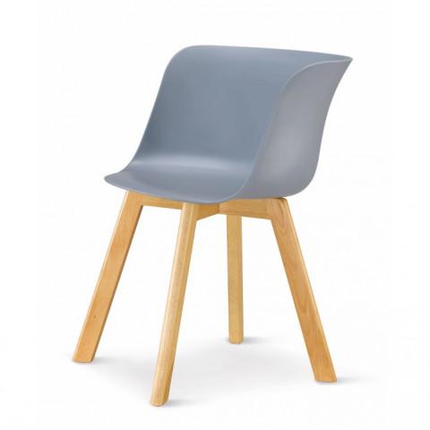 Židle LEVIN - šedá + buk