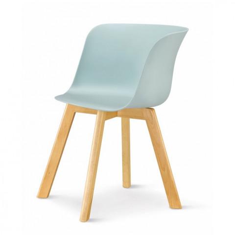 Židle LEVIN - mentol + buk