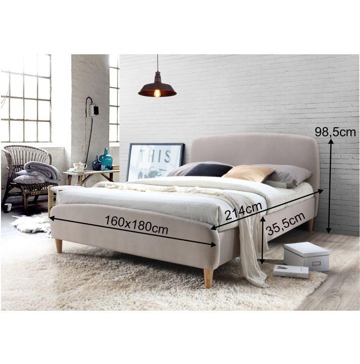 46a30d911ec5 Manželská postel Rupa 180x200 - béžová látka