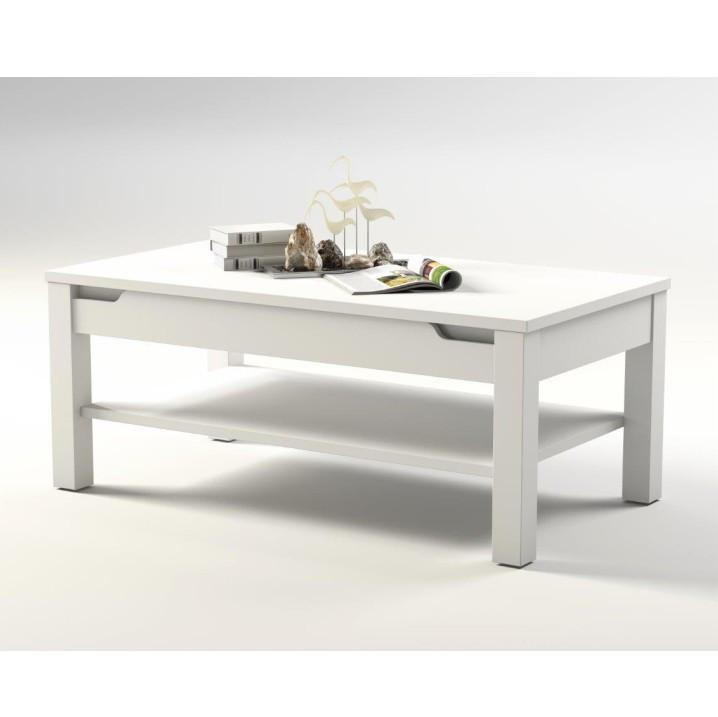 Konferenční stolek ADONIS AS 96 - bílý vysoký lesk - II. jakost