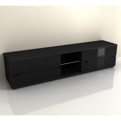 Televizní stolek ADONIS AS 30 - černý vysoký lesk