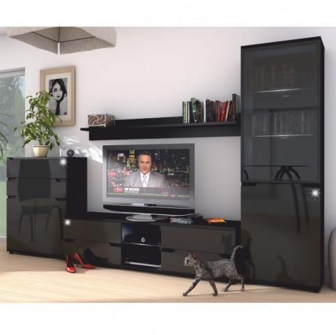 Konferenční stolek, černý vysoký lesk, ADONIS AS 96