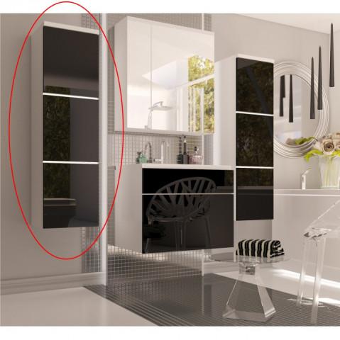 Vysoká skříňka MASON - bílá / černý lesk