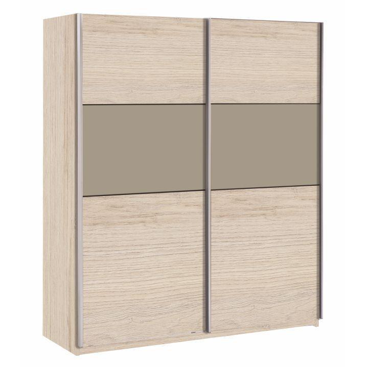 Skříň GRAPHIC s posuvnými dveřmi - dub arizona / šedá