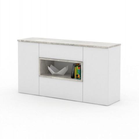 Komoda FARIS 05 - bílá / odstín beton