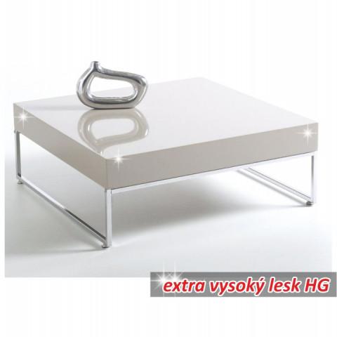 Konferenční stolek BOTTI - bílá extra vysoký lesk