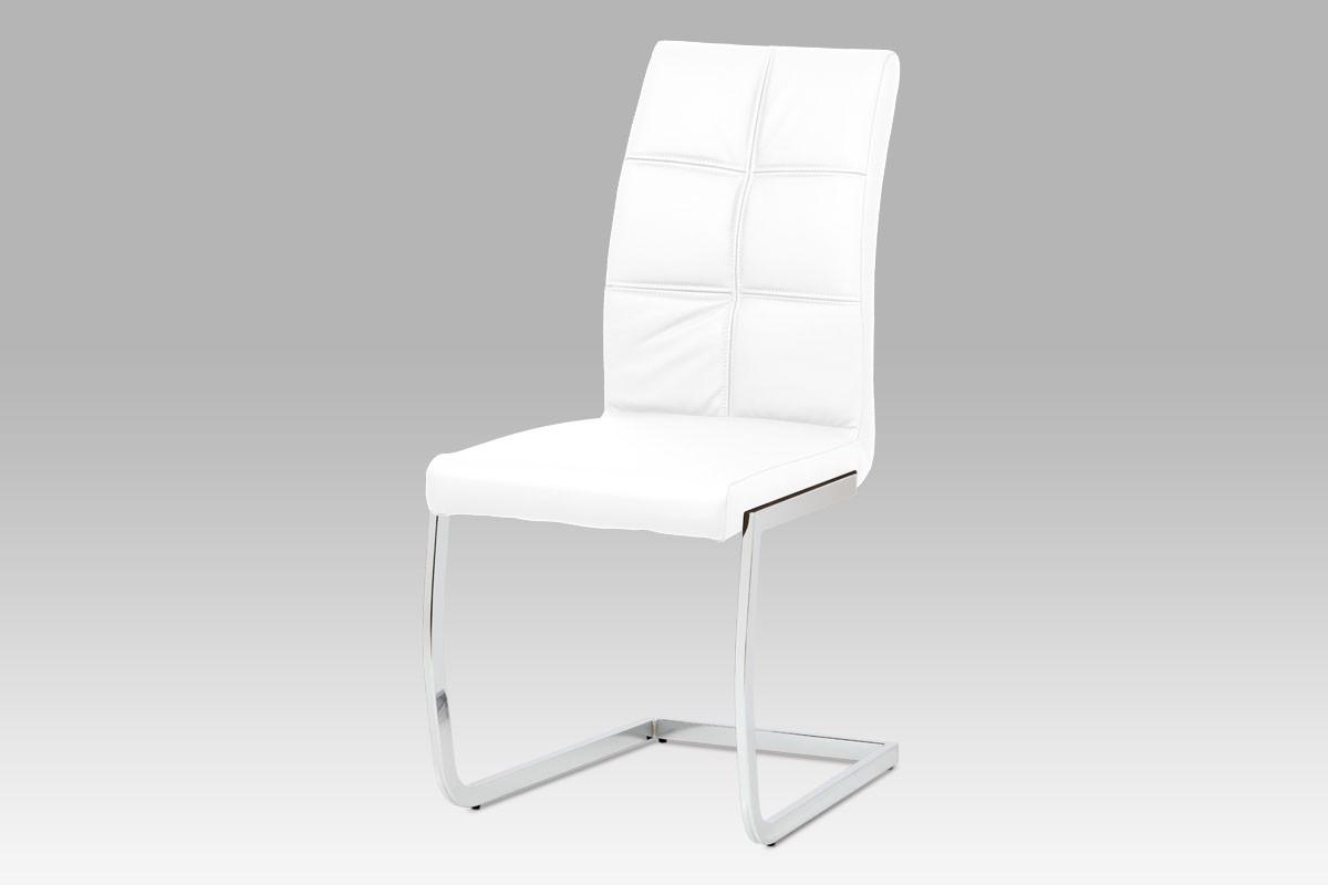 Autronic Jídelní židle HC-206 WT - koženka bílá + kupón KONDELA10 na okamžitou slevu 10% (kupón uplatníte v košíku)