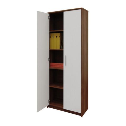 Kancelářská skříň JOHAN NEW 05 - švestka/bílá