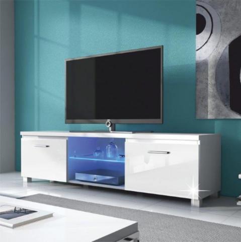RTV stolek LUGO 2 - bílá / bílý extra vysoký lesk HG