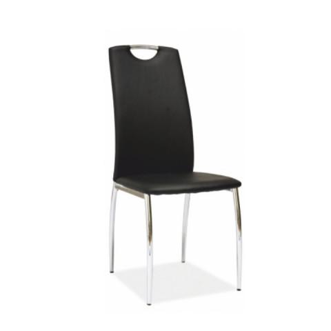 Židle ERVINA - černá ekokůže
