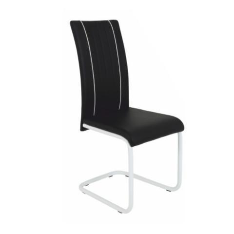 Židle LESANA - černá / bílá
