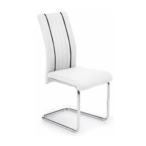 Židle LESANA - bílá / černá
