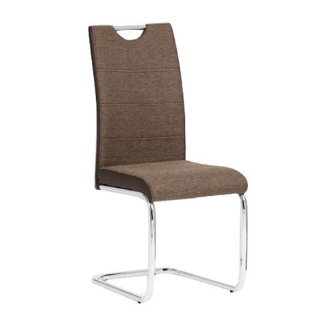 Židle IZMA - hnědá ekokůže / hnědá látka