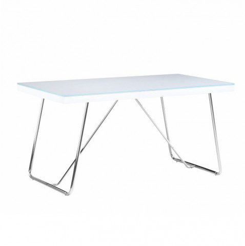 Jídelní stůl AMI - bílá / chrom