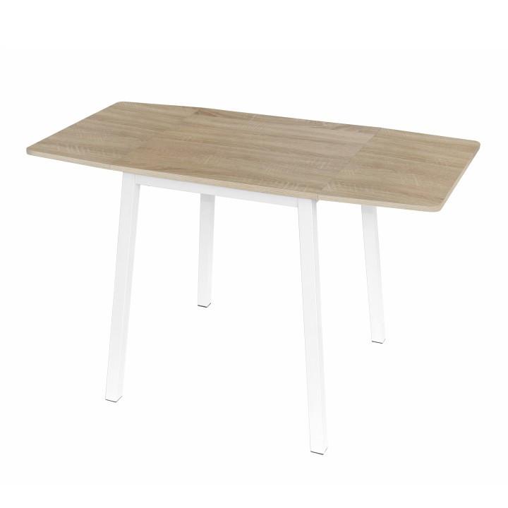 Tempo Kondela Rozkládací jídelní stůl MAURO - dub sonoma / bílá + kupón KONDELA10 na okamžitou slevu 3% (kupón uplatníte v košíku)