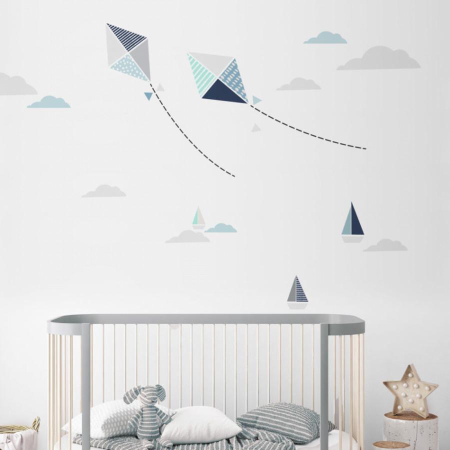 Forclaire Dekorace na zeď - Létající draci