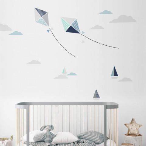 Dekorace na zeď - Létající draci
