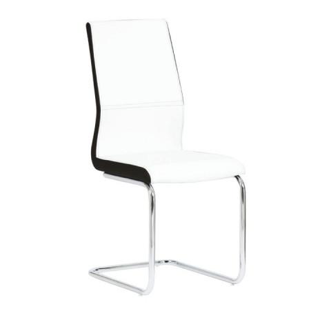 Židle NEANA - ekokůže bílá / černá