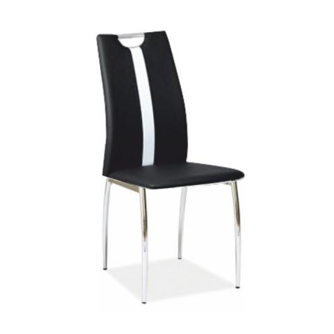 Židle SIGNA - černá / bílá ekokůže